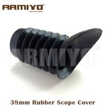 Armiyo 38mm średnica wewnętrzna skalowalność guma luneta luneta luneta zapobieganie odblaskom obudowa ochronna odrzut akcesoria myśliwskie tanie tanio CN (pochodzenie) ARM38MMRC 12*6*6(cm) Black 100mm