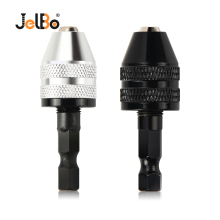 JelBo Mini Drill Chuck Adapter Screwdriver Impact Driver Adaptor 1/4 Hex Shank Drill Bit Quick Change Convertor Power Tools jelbo 105 degrees right angle adapter drill bits with 1 4 hex shank driver extension power for screwdriver holder tools