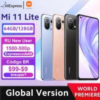 【World Premiere】Global Version Xiaomi Mi 11 Lite Smartphone Snapdragon 732G Octa Core 64GB/128GB 64MP Rear Camera 4250mAh NFC 1