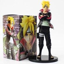 23cm Naruto Uzumaki Boruto action figure model toy with black base anime Naruto Uzumaki Naruto son Uzumaki Boruto PVC figure toy