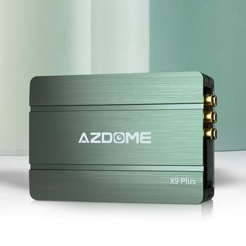 AZDOME X9 Plus DSP wzmacniacza Bluetooth 5 1 kanał 31-pasmowy EQ strojenia przetwarzania dźwięku wzmacniacz stereo subwoofery samochodowy sprzęt audio tanie i dobre opinie 4ohm Wielokanałowych 4*80W 90dB 20Hz-20KHz aluminum Wzmacniacze 1200g EQ floaing-point high-precision tuning system Black
