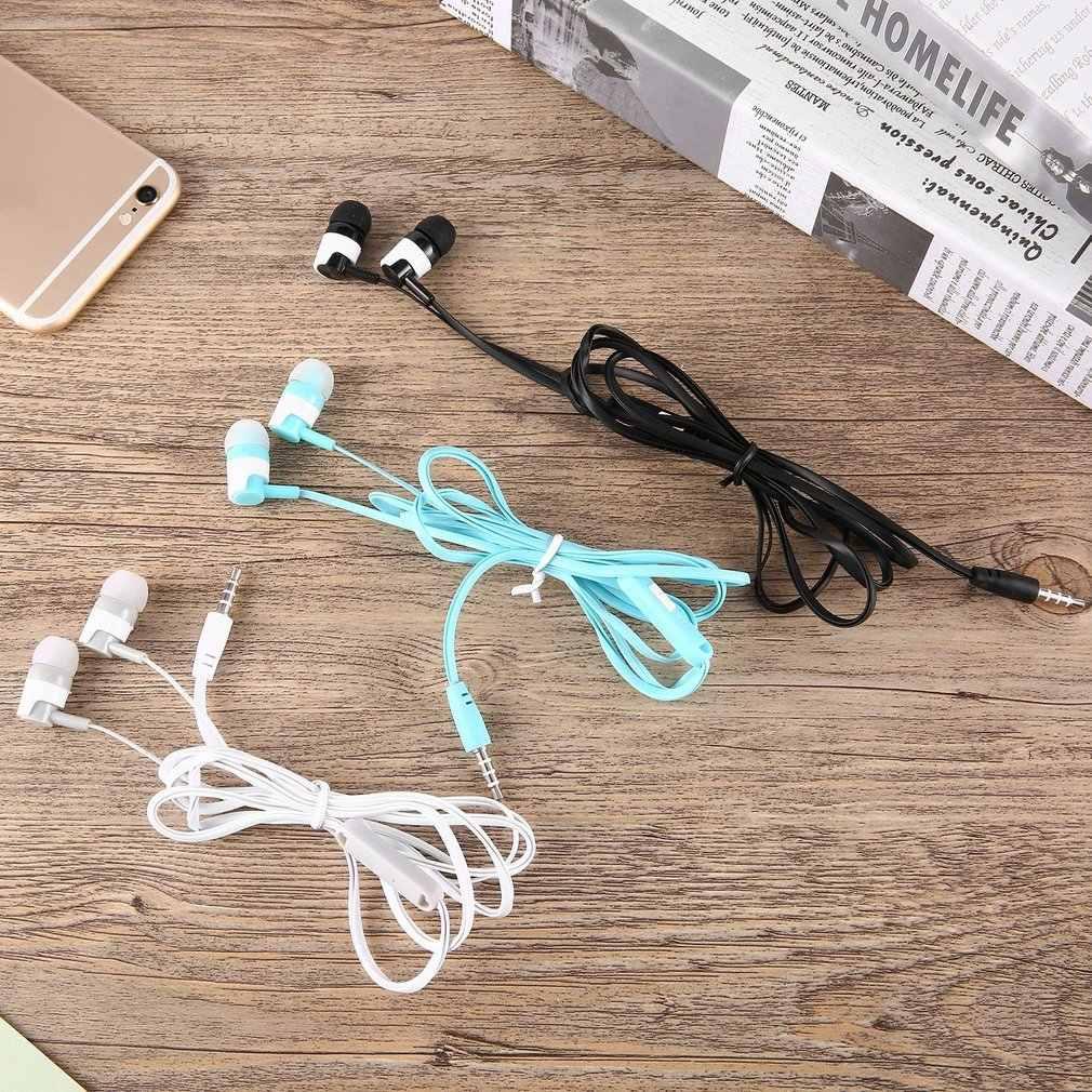 Auriculares estéreo Universal de 2018 MC-123 cómodos auriculares con micrófono y compatibles con reproductor de música portátil