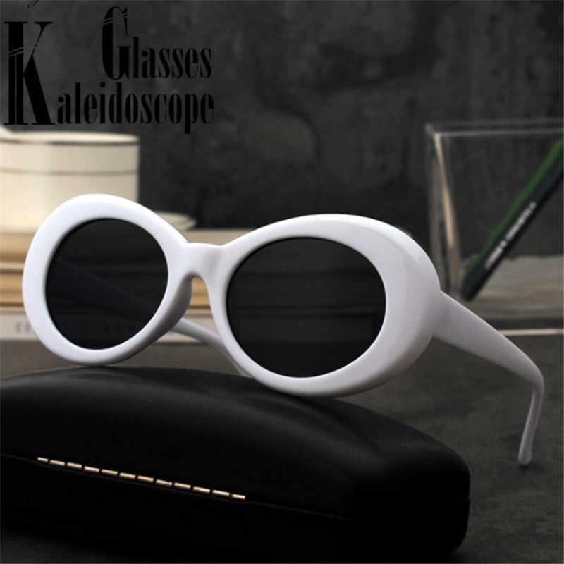 Винтажные Овальные Солнцезащитные очки женские модные очки Курта Кобейна солнцезащитные очки Роскошные брендовые уличные очки мужские же...