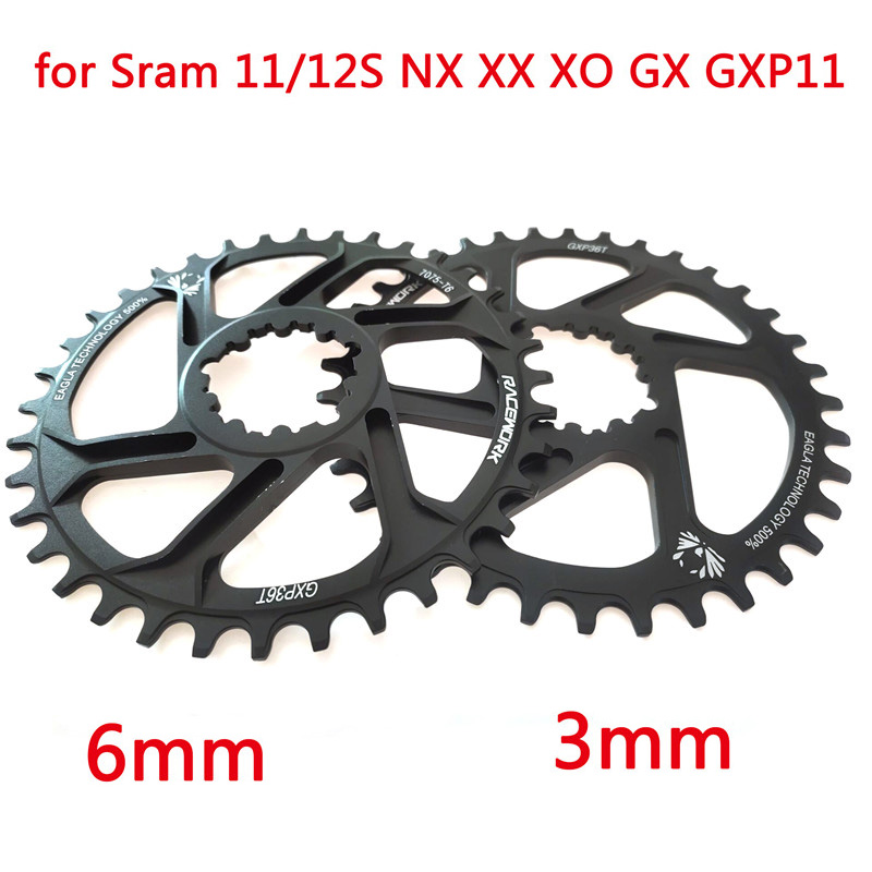 Free Deliv Racework Bicycle Chainring 32 34 36 38 T Narrow Width Bicycle Chainring Bont Gxp XX1 Xo Cnc AL7075 Crank Bicycle