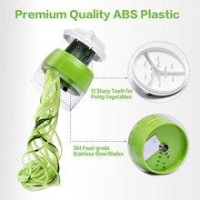 4 in 1 Adjustable Handheld Spiralizer Vegetable Fruit Slicer Spiral Grater Cutter Salad Tools Zucchini Noodle Spaghetti Maker