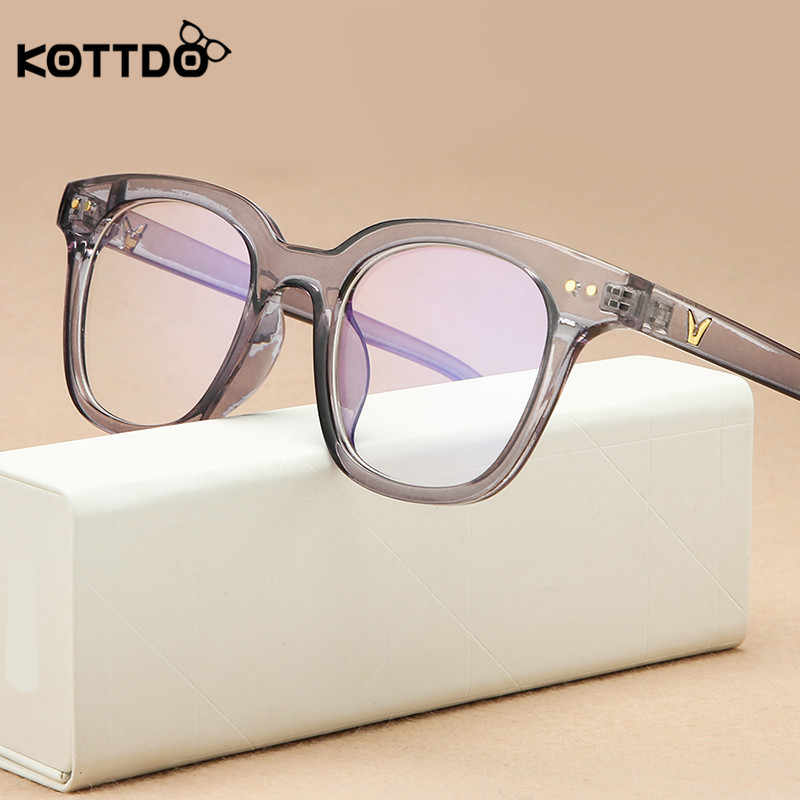 Kottdo Vintage Square Anti-Blue Light Kacamata Bingkai Wanita Klasik Optik Mata Bingkai Kacamata untuk Pria Jelas Kacamata Kacamata oculos