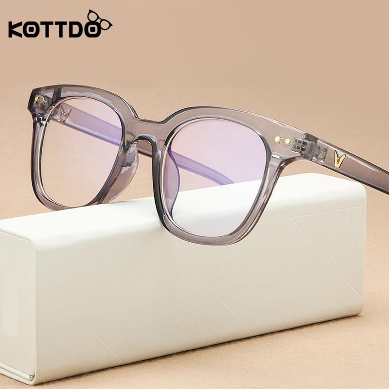 KOTTDO Vintage Square Anti-blue Light Glasses Frame Women Classic Optical Eye Glasses Frames For Men Clear Glasses Frame Oculos