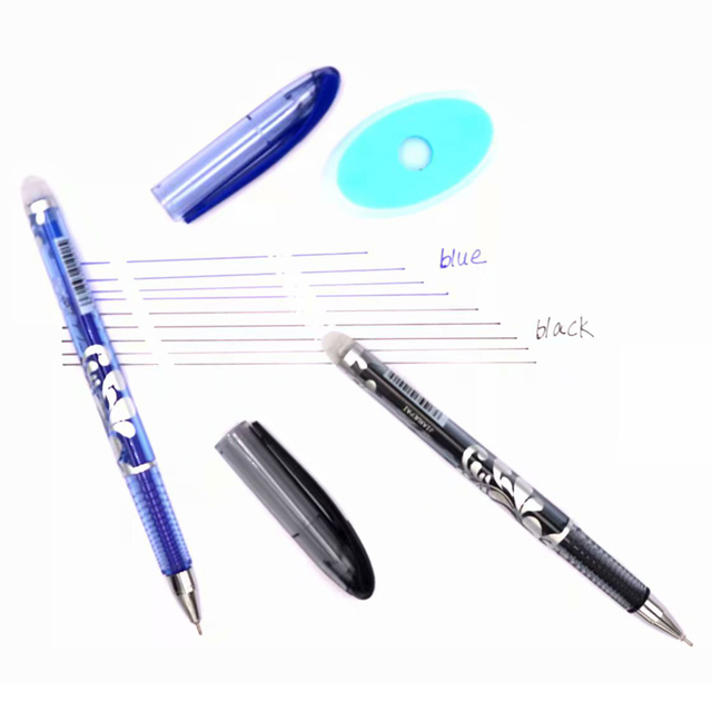 Erasable Pen Set Washable handle Blue Black Color Ink Writing Ballpoint Pens for School Office Stationery Supplies Exam Spare 4