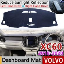 Für VOLVO XC60 2018 2019 2020 Anti-Slip Matte Dashboard Abdeckung Pad Sonnenschirm Dashmat Schützen Teppich Anti-Uv Dash Auto zubehör Teppich