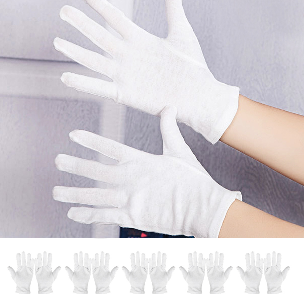 6 Pair White Cotton Cosmetic Moisturizing Gloves Hand Spa Skincare Gloves Moisture Enhancing Gloves Hight Quality
