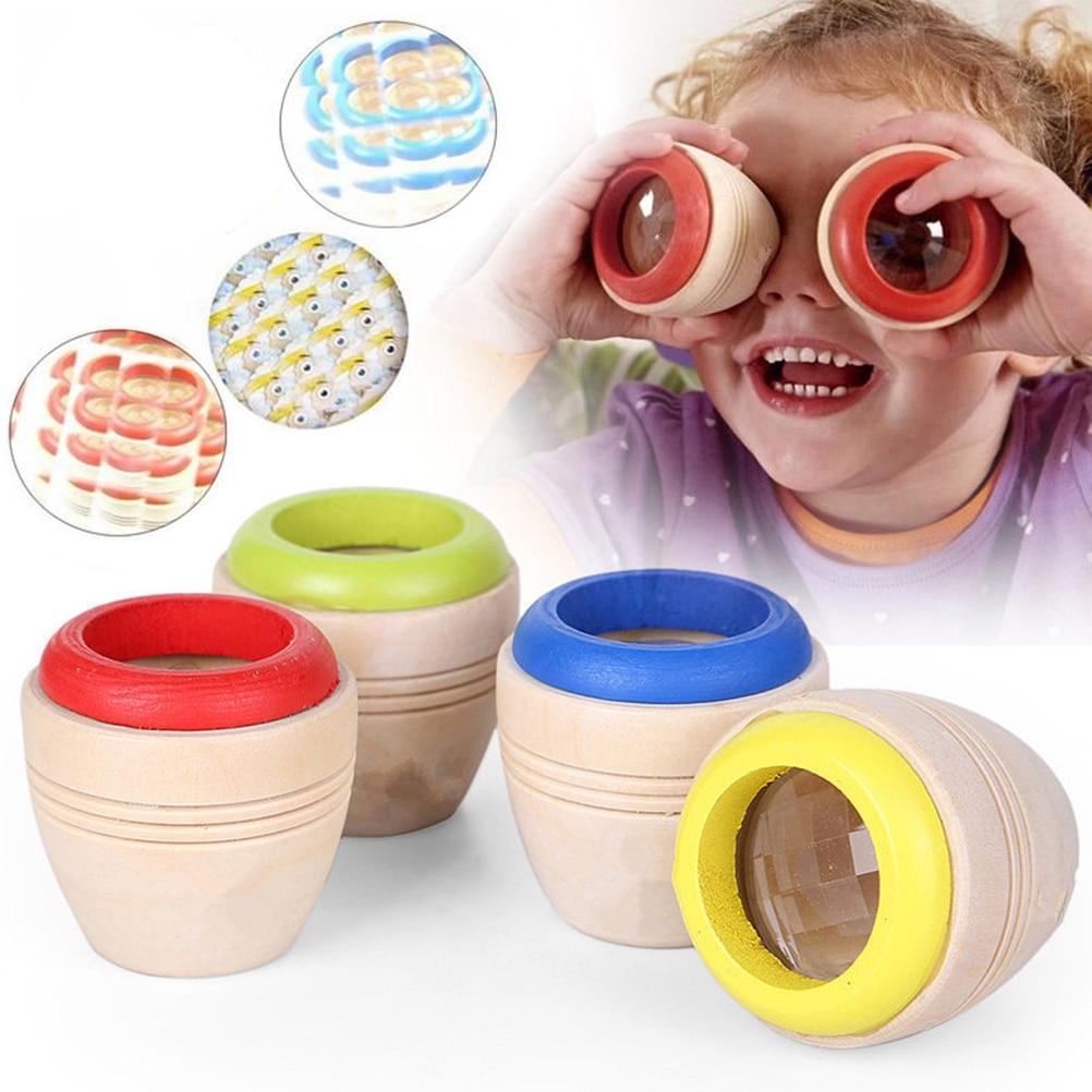 Wooden Educational Magic Kaleidoscope Learning Puzzle Toy Kids Baby Bee Eye Gift