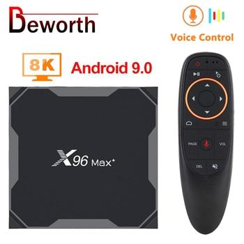 Android 9.0 TV BOX X96 MAX Plus 4GB 64GB 32GB Amlogic S905X3 Quad Core 8K 2.4/5G Wifi Smart Set Top Box Video Media Player Max+ h96 max x2 voice smart tv box android 9 0 amlogic s905x2 lpddr4 quad core 4gb 32gb 64gb 2 4g