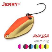 Jerry auriga micro ampla colher de pesca truta iscas cores uv brilhante ultraleve equipamento de pesca glitters baubles atacado