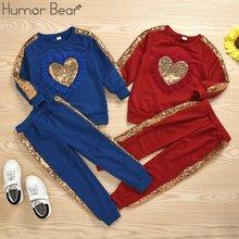 Модный новый осенний комплект детской одежды humor bear для