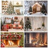 Yeele-sesión fotográfica, Feliz Navidad, Fondo de chimenea, fotografía, retrato de bebé, decoración de fiesta, estudio fotográfico