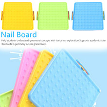 Plastic Nail Plate Primary Mathematics Nailboard Tool Geometry Demo Educational Teaching Instrument Puzzle Game Toy centrifugal force experimental apparatus teaching instrument middle school physics mechanics teaching instrument