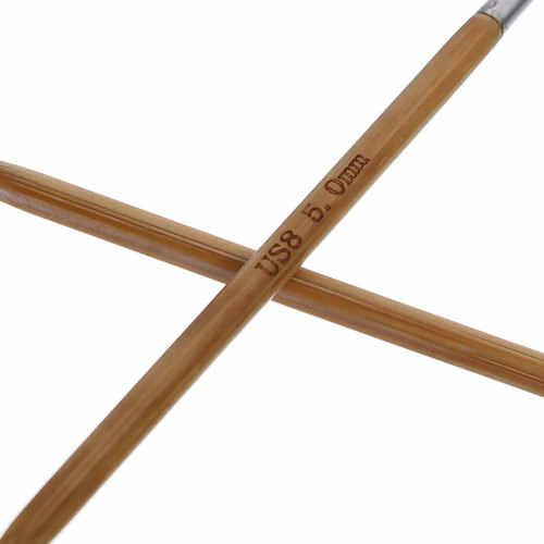4/4.5/5 Mm Bamboe Rondbreinaalden Roestvrij Stalen Buis Haaknaald Diy Craft Trui Kleding Hoed Sjaal Naaien naalden