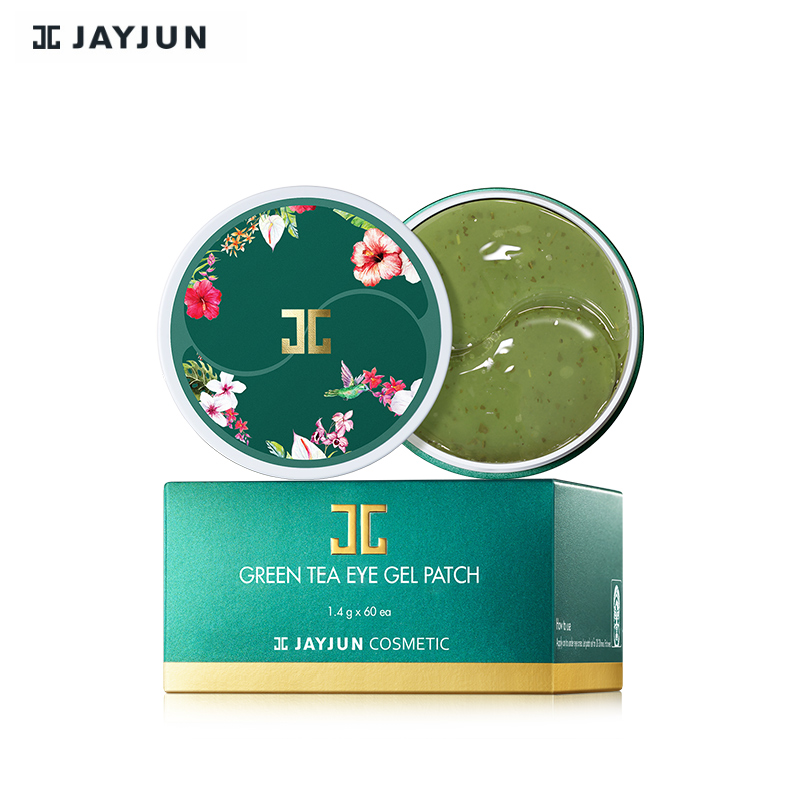 Oringal Korea Eye Mask JAYJUN Green Tea / Roselle Hydrogel Eye Gel Patch Under Eye Mask 60PCS