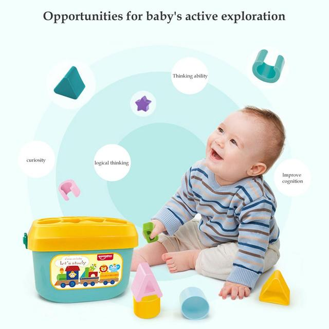 Baby Early Education Building Block Box 1-3 Years Old Multifunctional Baby Toy Shape Matching Early Education Toy 2