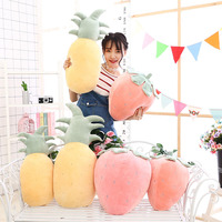 Software down Cotton Creative Plush Toys Model Strawberry Pineapple Fruit Doll Pajama Pillow Creative Gifts