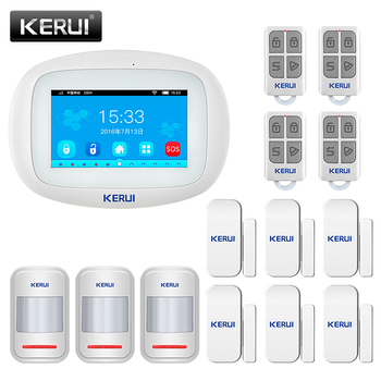KERUI Alarm System K52 WIFI GSM 4.3 Inch Big TFT Touch Screen for Home Security Motion Detector Door Sensor APP Remote Control 1