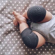 1 para podkładki pod kolana dla dzieci dzieci bezpieczeństwa indeksowania podkładka ochronna pod łokieć niemowlę maluchy dziecko ocieplacz na nogi wsparcie kolana protector dziecko kneecap tanie tanio Lovyno COTTON Poliester Unisex L-8010 Na co dzień Stałe