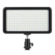 חם 3C Ultra thin 3200 K/6000 K Dimmable סטודיו וידאו צילום LED אור פנל מנורת 228pcs חרוזים עבור Canon ניקון DSLR מצלמה DV