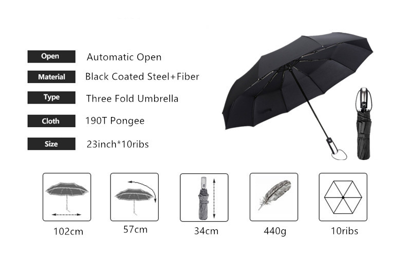 10ribs fold umbrella