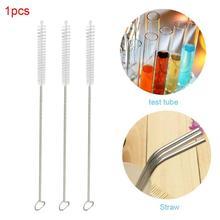 Многоразовый металлический питьевой щетки для соломинок щетка пробирка инструмент для очистки соломинки трубы прямой изогнутый