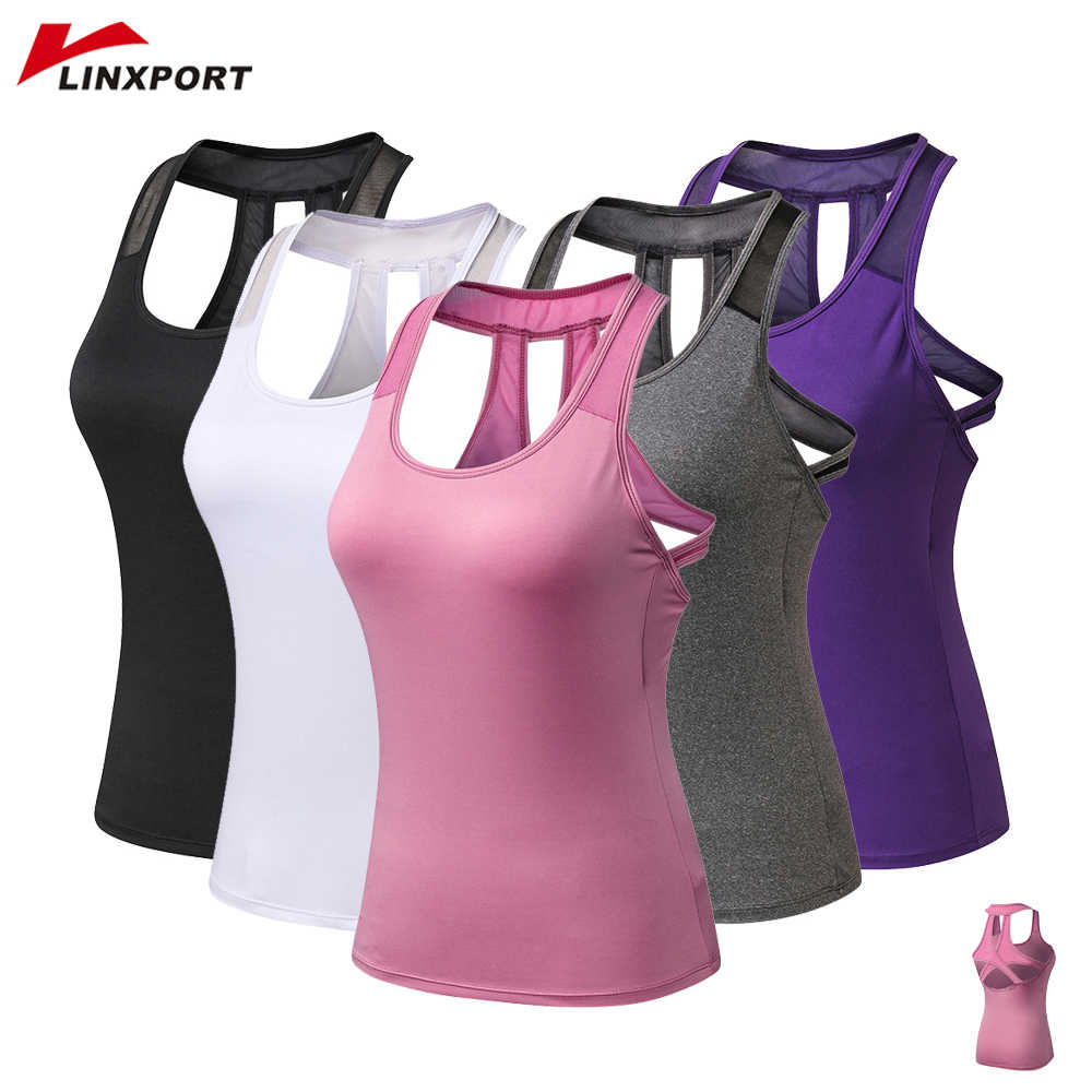 Women Cross Tops Compressed Yoga Shirts Sportswear Tank Tops Fitness Gym Clothing Quick Drying Running Vest Sleeveless Jeserys