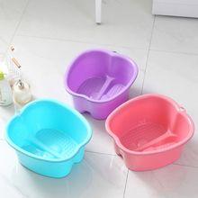 Bucket Basin Pedicure Foot-Bath Massage Plastic Portable Tub Spa for Soaking-Feet Detox