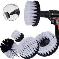 Taladro eléctrico con cepillo de limpieza para muebles de cuero, plástico y madera, limpieza de interiores de coche, potencia de 4/5, 5/2/3 pulgadas, 3/4/5 Uds.