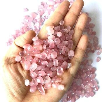 100g 8-12 мм натуральный розовый Кристальный гравий розовое гравий с кристаллами кварца камень фишек повезло Исцеление натуральных камней и минералов