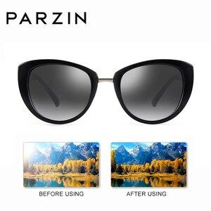 Image 3 - Parzinファッションエレガントな女性のサングラススタイルの高品質ブランドデザイナーUV400サングラス女性偏光ホット販売