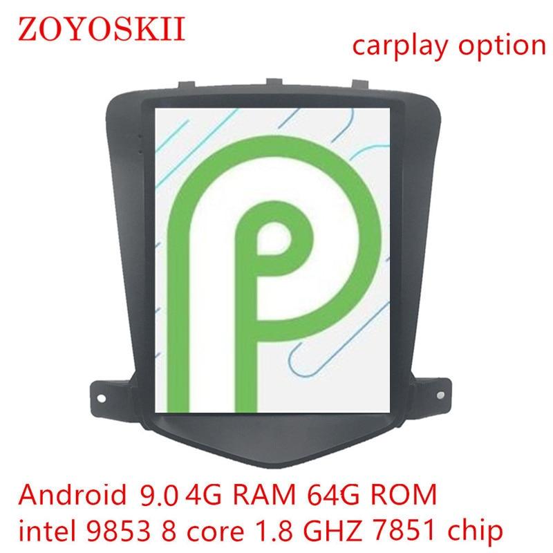 Android 8.1 9.0 os 10.4 pouces IPS vertical HD écran voiture gps multimédia radio navigation carplay pour Chevrolet Cruze 2009-2015