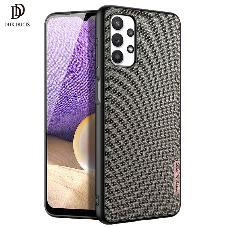 Para samsung galaxy a32 5g caso dux ducis fino série tecido textura de náilon silicone capa traseira para samsung a32 5g caso proteção