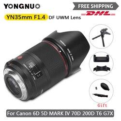 Широкоугольный объектив YONGNUO YN 35 мм F1.4 с автофокусом для Canon 6D 5D MARK IV 70D 200D 6D MARK II T6 1300D 200D 70D 7D G7X