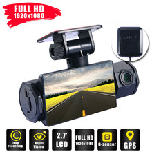 New Car DVR GPS Dual Lens Dash Cam HD 1080P Car Video Recorder Front and Inside Car DVR Car Dash Camera Support seamless cycle