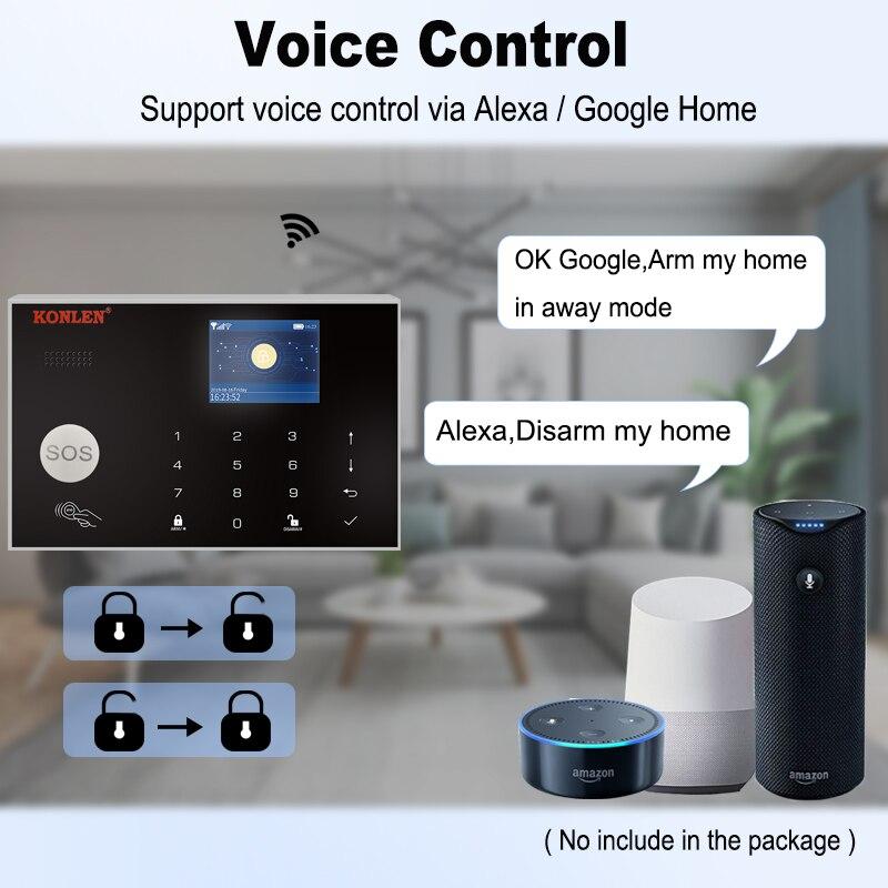 TUYA WIFI+GSM Wireless Touch Alarm System Home Security Burglar fr Alexa Google