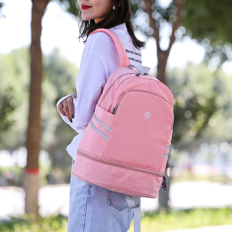 Dry Wet Separate Women Backpack Man Waterproof Nylon Sport Gym Fitness Double Shoulder Bag For Shoes Travel Duffel Blaso Gymtas