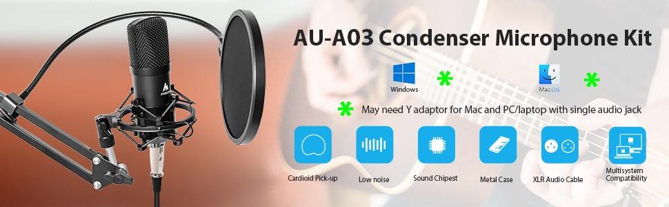 Maono AU-A03 Condenser Microphone Kit 4