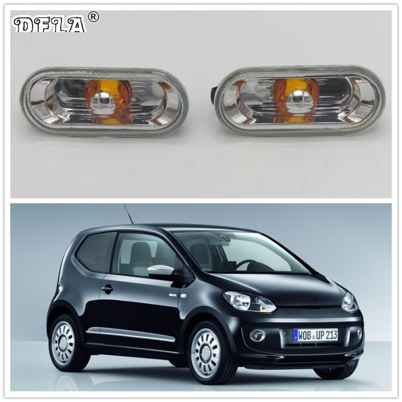 2pcs For VW UP 2012 2013 2014 2015 2016 Car-Styling Side Fender Marker Turn Signal Light Lamp