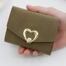 New 2019 Women Wallets Small Girls Wallet Short Leather Ladies Mini Wallets for Women Frosted PU Candy Color Purse Card Holder dudini fashion casual style ladies wallet solid color lichee pattern women wallets 3 fold pu leather short section small wallet
