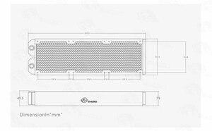 Image 5 - Bykski 38 مللي متر سميكة 360 مللي متر 2 طوابق بالوعة الحرارة النحاس المبرد الكمبيوتر المياه المبرد السائل مبادل حراري استخدام لمحبي 3*12 سنتيمتر