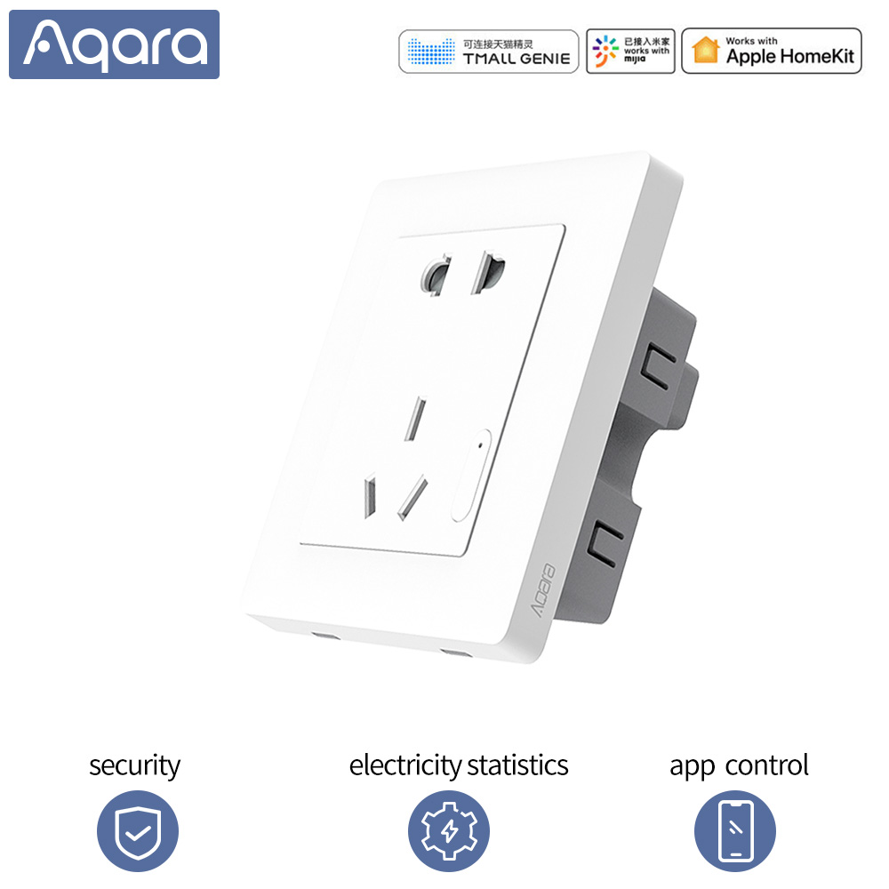 Aqara Smart Socket Wireless Wall Outlet Switch socket Smart life Wireless Remote Plug App control for Mihome app