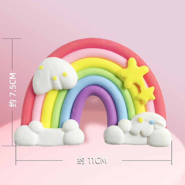 Leeiu Unicorn Rainbow Cake Toppers Kids Birthday Decorations Unicorn Party Cupcake Toppers Wedding Decoration Cake Flags