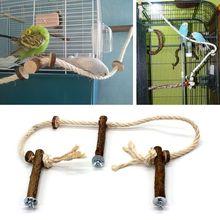 Pet Bird Parrot Cockatiel Stand Frame Parakeet Cage Ladder Climbing Hammock  Bird Toys Parrot Toys