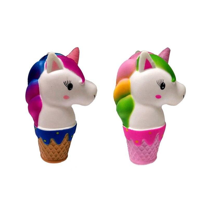 Slow Rebound Unicorn/Horse Squishy Cute Rainbow Slow Rising Cream Scented Kids Decompression Toys