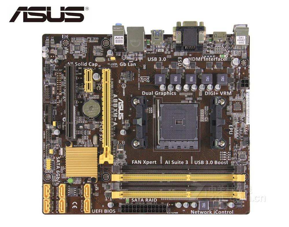 ASUS A88XM-A Desktop Motherboard For AMD  FM2/FM2+  DDR3 A88X A55 USED MAINBOARD Pc Boards