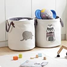 Fabric Clothes Storage Bucket Laundry Basket Sundry Organizing Barrels CHILDREN'S Toy